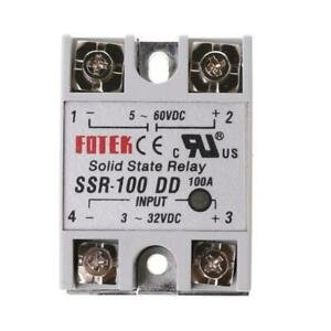 Ssr 100 Dd Solid State Relay Module 100a 3 32v Dc Input 5 60v Dc Output Relay