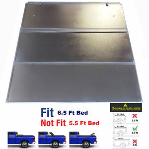 Hard Tri Fold Truck Bed Tonneau Cover Fit 15 20 Ford F 150 F150 6 5 Ft Long Bed