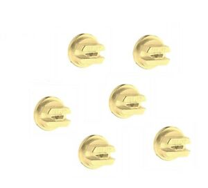 Pack Of 6 Teejet Brass Even Flat Spray Tip 80 Rated 0 20 Gpm 40 Psi Tp8002e