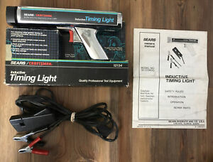 Sears Craftsman 92134 Inductive Timing Light Chrome Plated Used With Manual box