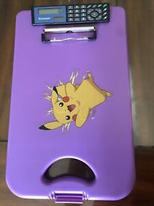 Saunders Deskmate With Calculator Plastic Storage Clipboard Purple