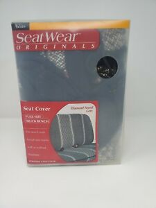 Axius Seat Wear Originals Full Size Truck Bench Seat Cover Diamond Tweed Grey