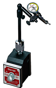 New Starrett Usa Magnetic Base And Post Assembly With Dial Test Indicator 398