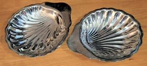 Vintage Shell Serving Tray Dish Set Oneida Silversmiths