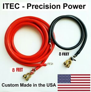 Battery Relocation Kit 2 Awg Cable Top Post 8 Ft Red 8 Ft Black usa Made
