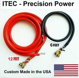Battery Relocation Kit 2 Awg Cable Top Post 12 Ft Red 6 Ft Black usa Made