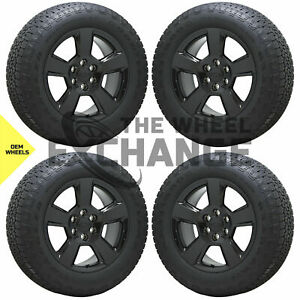 20 Chevrolet Silverado 1500 Z71 Truck Black Wheels Rims Tires Factory Oem 5652