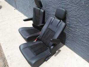 2020 Dodge Caravan Bucket Seats Stow And Go Town And Country Black Leather Suede