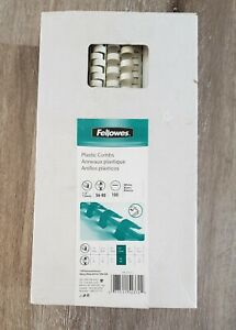 Fellowes Plastic Combs Binding 1 2 56 90 Sheets Box Of 100