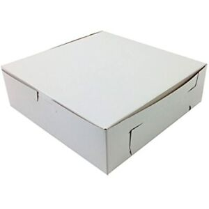 pack Of 10 Black Cat Avenue 8 X 2 1 2 White Non window Cookie Boxes Pie amp