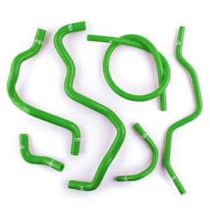 Silicone Heater Coolant Hoses Kit For Honda Civic D17 1 7l 2001 2005 03 Green