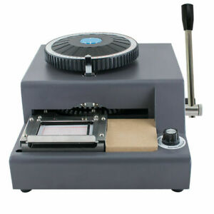 Manual 72 character Letters Embosser Credit Id Card Embossing Machine warranty