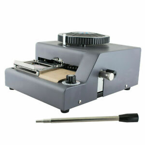 72character Letters Embossing Machine Manual Embosser Pvc Credit Card System Usa