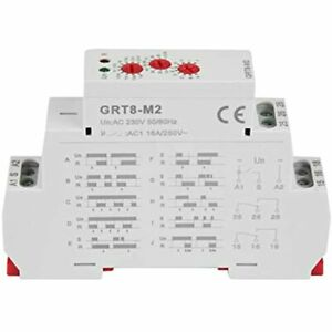 Delay Time Relay Grt8 m2 Multifunctional With 10 Functions Din Rail Mount Ac