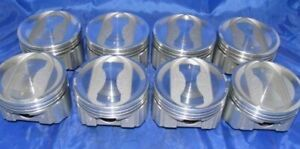 Amc jeep 401 V8 Coated Dish Top Pistons 8 moly Rings Set kit 9 5 1 Cr 060
