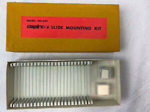 Empire Glass Slide Mounting Kit 3 X 1 In Box 22 Slides Science Microscope 622