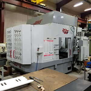 Used Haas 4 axis Hs 2rp Horizontal Cnc Machining Center W Tombstone Vises