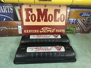 1955 1956 1957 Ford Y Block Valve Covers With 1957 Decals