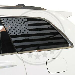 Fits 11 21 Jeep Grand Cherokee Rear Quarter Window American Flag Decal Stickers