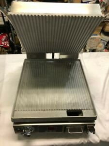 Star Pgt14t Single Commercial Panini Press W Aluminum Grooved Plates 120v