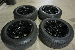 20 Ford Expedition Factory Oem Gloss Black Wheels Rims Tires F150 10143b