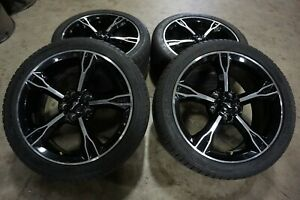 19 19x8 5 Ford Mustang Factory Oem Black Wheels Rims Michelin Tires 10081