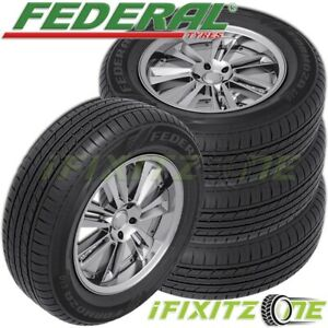 4 New Federal Formoza Gio 225 60r15 96v All Season Traction Fuel efficient Tire