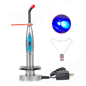 Wireless 5w Power Led Curing Light Resin Cure Lamp 1500mw cm Silver For Dentist