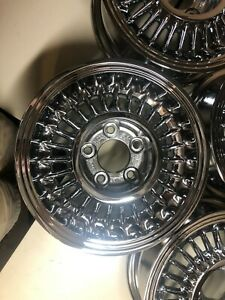 1955 1956 Cadillac Sabre Wheel Newly Re Chromed Set Of 4