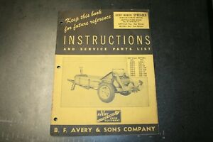 Avery Manure Spreader Instructions Manual Form No R 194 2000 12 49 jss Co