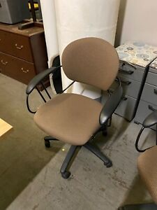 Chair W Casters By Steelcase Uno In Brown Color Fabric