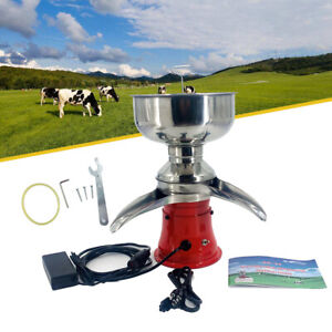 Milk Cream Electric Centrifugal Manually Separator Machine 50l h Stainless Steel