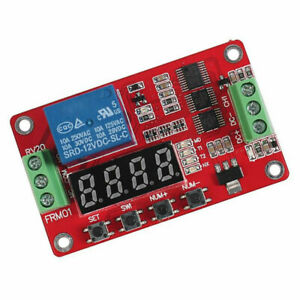 Details About 12v Multifunction Self lock Relay Plc Cycle Timer Module Delay T