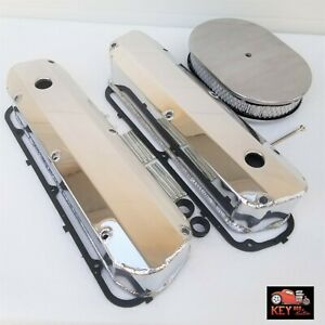 Small Block Ford Polished Fabricated Aluminum Valve Covers 289 302 351w Gaskets