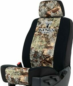 Camo Seat Covers For Low Back Bucket Seats W Front Storage Pocket Foam Back