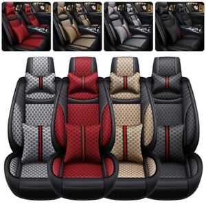 Luxury Auto Decor 5 Sits Car Seat Cover Front Rear Cushion Suv Universal Set Us