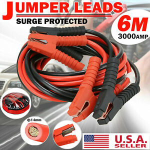 3000amp Booster Jumper Cables Lead Starter 20ft Heavy Duty Power 0 Gauge Car Van
