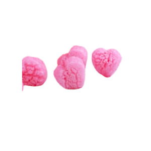 Pink Heart shaped Packing Peanuts 3 Cu Ft 2 pack