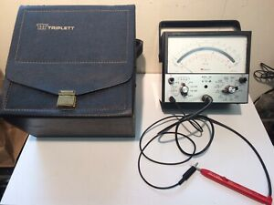 Triplett 801 Vom V o m Solid State Meter With Case