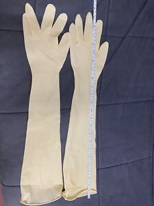 Elbow Length Latex Gloves 24 Inches 600mm Size M Not Surgical Gloves