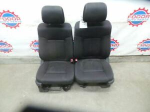 11 14 Ford F150 Black Cloth Front Seats Pair 12 13