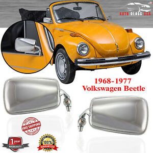 Manual Mirror Chrome Right Left Side For 1968 1977 Volkswagen Beetle