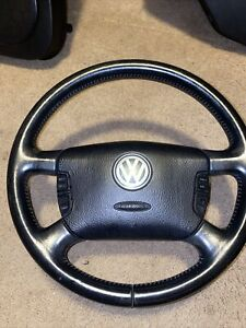 Vw Mk4 Jetta Multi Function Leather Steering Wheel With Controls Very Nice