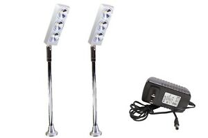2x Showcase Led Pole Light Silver High End Jewelry Boutique Store F58 Ul Power