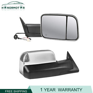 2 X Power Heated Towing Mirrors For 1998 2002 Dodge Ram 2500 3500 98 01 1500 New