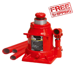 Big Red T92007a Hydraulic Stubby Low Profile Welded Bottle Jack 20 Ton Red
