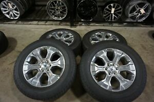 20 2021 Ford F150 Platinum Factory Oem Polished Wheels Rims Tires Expedition