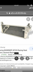 Supercharged 07 12 Gt500 Double Pass Afco Heat Exchanger Intercooler 08 09 10