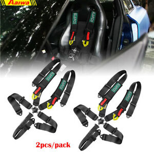 2x Retractable 5 Point Safety Harness Straps Adjustable Belt For Kids Adult Atv