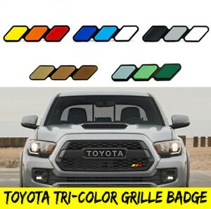 Tri Color 3 Grille Badge Emblem For Toyota Tacoma Tundra 4runner Trd Grill